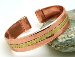 M31: Magnetic Copper Band With Brass Twist Bracelet